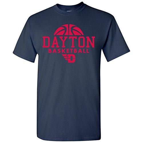 Dayton Flyers Basketball Hype Mens T-Shirt - Medium - Navy