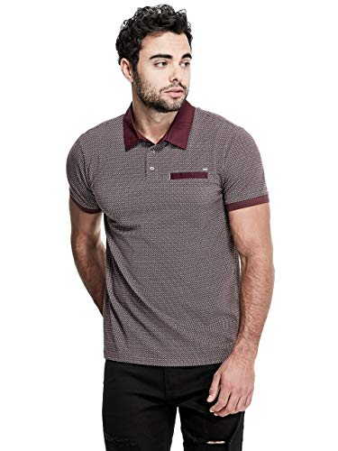 GUESS Factory Mens Constantin Geo-Print Polo