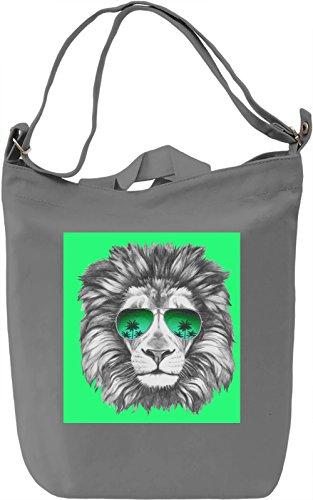 Lion Borsa Giornaliera Canvas Canvas Day Bag| 100% Premium Cotton Canvas| DTG Printing|