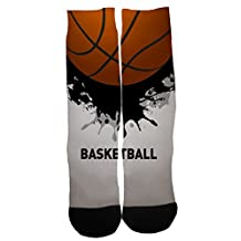 Kalily Custom Basketball Dri-fit Crew Socks with Designs