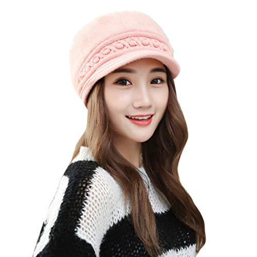 Lookatool LLC Women Winter Warm Cap Knitted Hat Beret Baggy Beanie Hat Slouch Ski Cap ()
