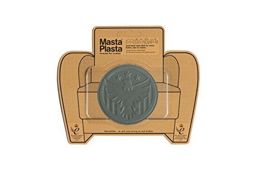 MastaPlasta Self-Adhesive Patch for Leather and Vinyl Repair, Eagle, Gray - 3 Inch Diameter