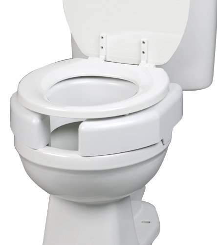 SP Ableware Secure Bolt Bathroom Elevated Toilet Seat, White (725790002)