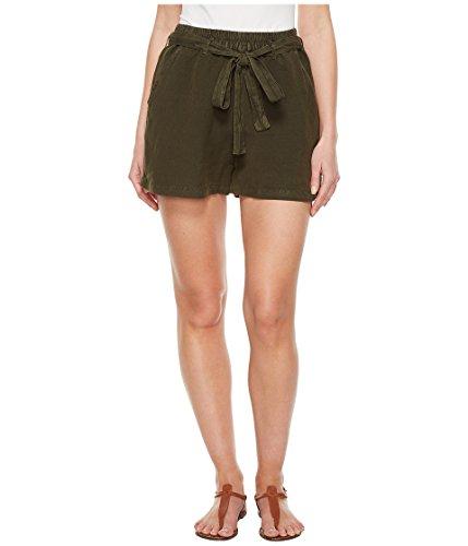 嫌悪金銭的理解する[ラッキーブランド] Lucky Brand レディース Tie Front Linen Shorts in Deep Depths パンツ Deep Depths LG (US 10-12) [並行輸入品]