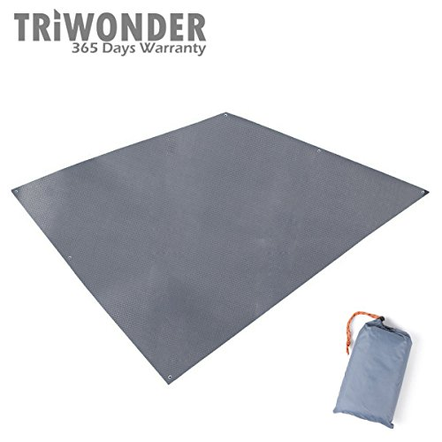 "Triwonder 84.6"" x 84.6"" Outdoor Waterproof Camping Shelter Tent Tarp Footprint Groundsheet Blanket Mat (Grey)"