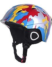 Soared Skihelm Kinder Snowboardhelm Ski Helm mit Winddicht Ohrenschützer Fleece Futter Belüftung Visier Jungen Mädchen