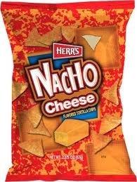 Herr's - Nacho Cheese Tortilla Chips, Pack of 72 - Cheese Chips Nacho