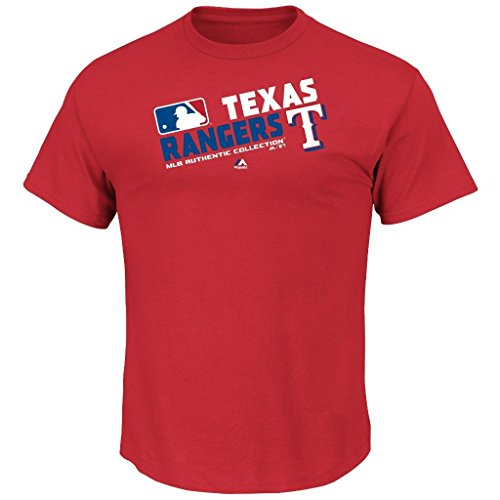 Youth MLB Authentic Collection Team Choice T-Shirt (Youth Xlarge 18/20, Texas Rangers) (Shirt Texas Rangers Player)