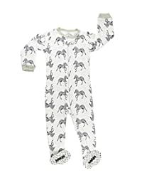 "Elowel Baby Boys footed ""Shark"" pajama sleeper 100% cotton (size 6M-5Years)"