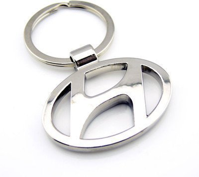 The Coolio Silver Hyundai Logo Keyring and Keychain
