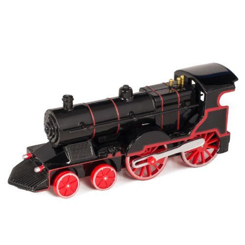 Black Cast Metal Classic Train Toy with Sounds and Lights