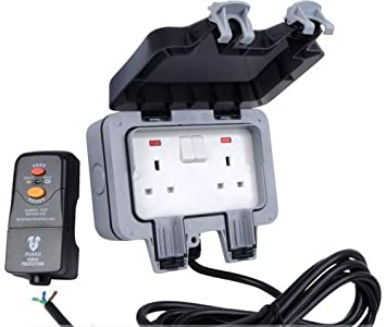 Pleasant Hdiuk 10M Outdoor Socket Wiring Kit Rcd To Twin Ip66 Amazon Co Uk Wiring 101 Vihapipaaccommodationcom