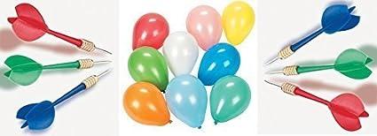 Amazon Com 36 Plastic Darts And 288 Dart Balloons Bundle Carnival