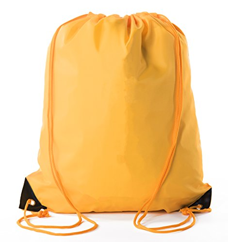 Mato & Hash Basic Drawstring Tote Cinch Sack Promotional Backpack Bag - 50PK Athletic Gold CA2500 - 2