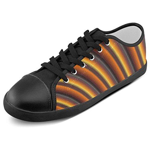 Artsadd Custom Glossy Honey Caramel Gradient Stripes Canvas Shoes For Men (Model016) LvN5c7B