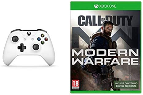 Microsoft - Mando Inalámbrico, Blanco (PC, Xbox One S) + Call of Duty: Modern Warfare: Amazon.es: Videojuegos