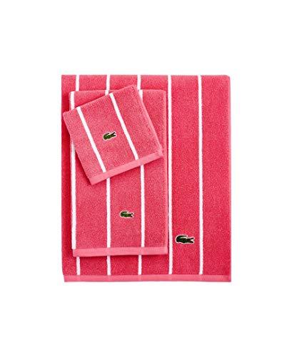 Lacoste Sport Stripe Bath Towel, Fandango Pink