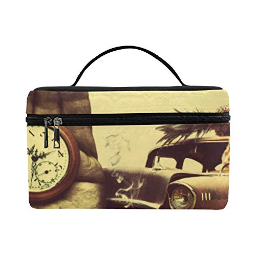 Creative D Art Surreal Time Chevrolet Retro G Pattern Lunch Box Tote Bag Lunch Holder Insulated Lunch Cooler Bag For Women/men/picnic/boating/beach/fishing/school/work