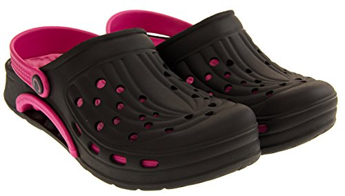 Coolers Womens Summer Beach Clog Sandals Black mmhLb
