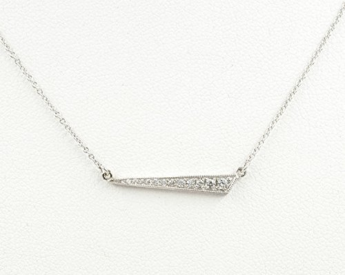 1e1d8830d5475 Amazon.com: Dainty Layering Charm Bar Pendant, Micro Pave Diamond ...