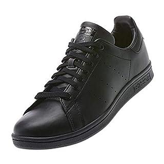 adidas Originals mens Stan Smith Leather Sneaker, Black, 8 US