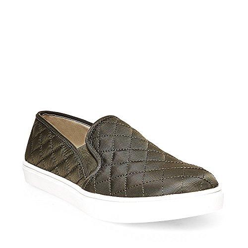 Steve Madden Women's Ecntrcqt Fashion Sneaker, Olive, 5.5 M US