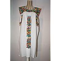 Vestido artesanal bordado mujer, vestido blanco mujer casual, vestido bordado, vestido corto, vestido boho, vestido para playa, vestido sin mangas, vestid blanco,vestido juvenil