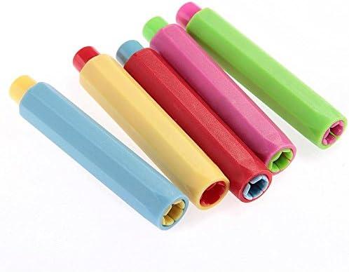 Yako 5x Kreide-Halter, Schutzhülle für Schule, Kunststoff