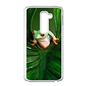 Happy Green leaves and unique frog Cell Phone Case for LG G2
