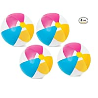 """Intex 24"""" Inflatable Paradise Panel Colorful Beach Ball - 59032EP (Set of 4)"""