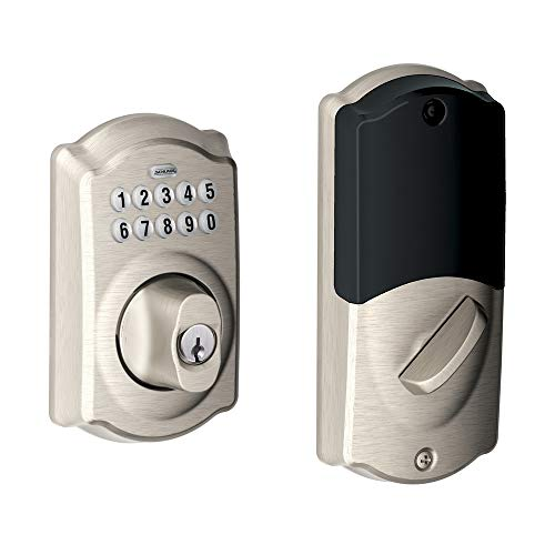 Schlage BE369NXCAM619 Camelot Keypad Electronic Deadbolt with Z-Wave Technology ()