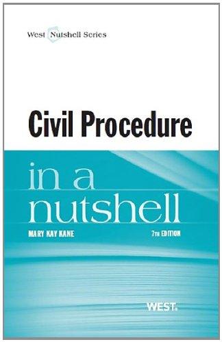 Civil Procedure in a Nutshell (Nutshells)