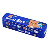 Multifit Boys Multi-Functional Racing Animal Bus Pencil Case Stationery Box Pencil Holder Storage(Dark Blue)