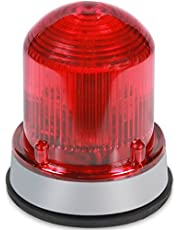 Edwards Signaling 125STRNR120A Flashing Xenon Strobe Beacon, Corrosion Resistant Enclosure, Normal Output 175K Peak Candela, 120V AC, Gray Base, Red