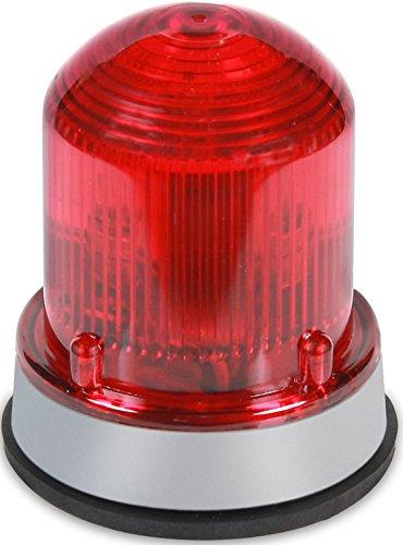 Edwards Signaling 125STRNR120A Flashing Xenon Strobe Beacon, Corrosion Resistant Enclosure, Normal Output 175K Peak Candela, 120V AC, Gray Base, Red by Edwards-Signaling