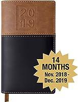 2019 Pocket Planner/Pocket Calendar: Includes 14 Months (Begins November 2018) / 2019 Calendar/ 2019 Weekly Calendar/Weekly Planner Organizer (Black/Brown)
