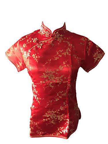 Shanghai Story Chinese Cheongsam Top Short Sleeve Qipao Blouse for Women 2 Rd