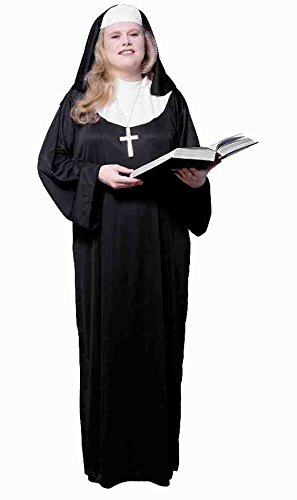 Forum Novelties Women's Adult Nun Costume, Black/White,