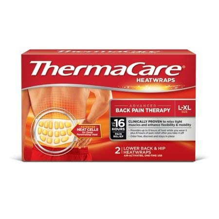 - ThermaCare Heatwraps Lower Back and Hip HeatWraps L-XL Size Pack of 2