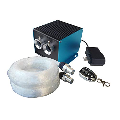 Wiedamark 600 Strand LED Fiber Optic Star Ceiling Kit With Organized Zip Tied Bundles