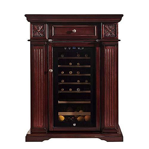 Thermostat Wine Cellar – Wine Refrigerator Cooler Wine Cabinet Freestanding Beverage storage cabinet Multifunction…