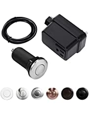 """CLEESINK Garbage Disposal Air Switch Kit Sink Top Switch, Stainless Steel Brushed, Long/2.5"""" Button"""