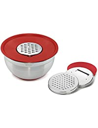 Win Cuisinart Mixing Bowl with Graters, Red save