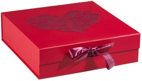 Think Posh rojo/rojo caja de regalo de recuerdo de Flock, grande ...