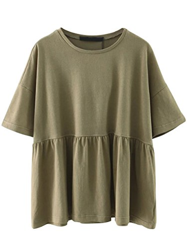 SheIn Womens Oversized Sleeve Babydoll