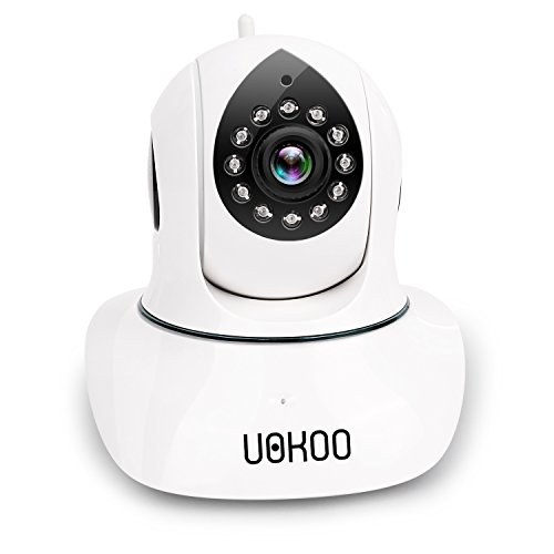 Wireless Security Camera, UOKOO HD WiFi Surveillance IP Camera with Email Alert/Two-Way Audio/Pan&Tilt/Night Vision Baby Monitor