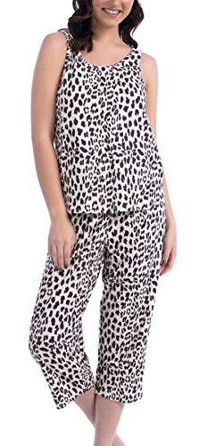 Cozy Loungewear Ladies Super Soft Pajama Set (Leopard, Small)