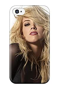 Hot New Amber Heard Messy Hair White Background People Women Case Cover For Iphone 4/4s With Perfect Design