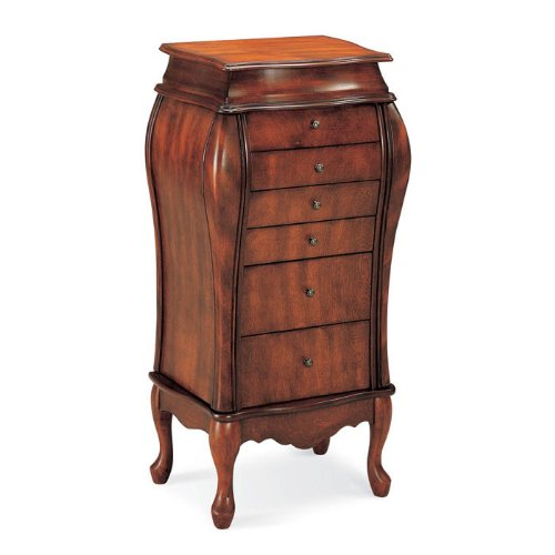 Coaster 900075 French Style Jewelry Armoire, Cherry