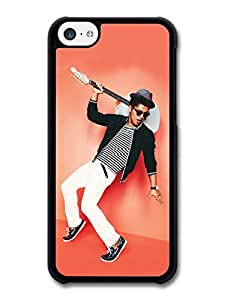 Bruno Mars Blue Guitar Pink Wall Portrait case for iPhone 5C